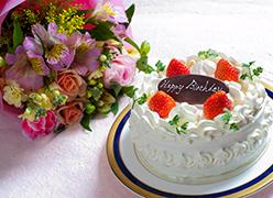 写真:ケーキ花束