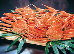 写真:別注料理一例(蟹一尾)