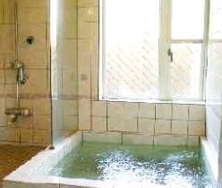 写真:ボディーシャワー付内湯
