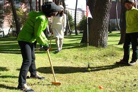 写真:グラウンドゴルフ