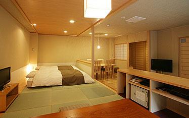 写真:別邸六花|半露天風呂付和洋室「やまぼうし」
