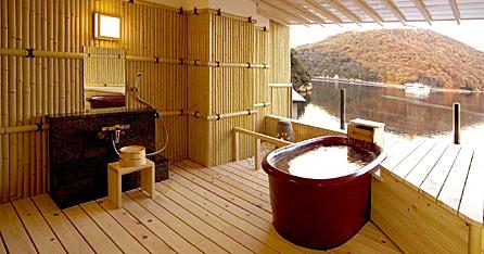 写真:貸切家族露天風呂|日の湯月の湯