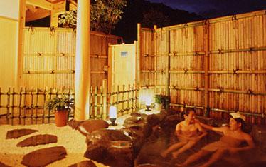 写真:庭園風露天風呂 浜の湯|貸切露天風呂