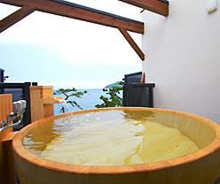 写真:展望貸切露天風呂|高野槙「海」