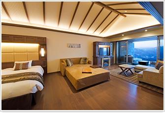 写真:<PREMIUM棟>1階客室 一例