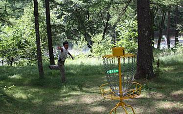 写真:ディスクゴルフ