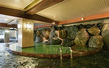 写真:男の湯歩道 岩風呂大浴場