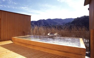 写真:屋上貸切露天風呂