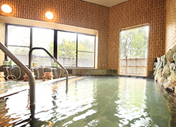 写真:内湯は2種類の源泉かけ流し | イメージ