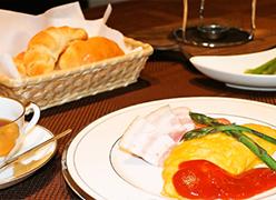 写真:朝食
