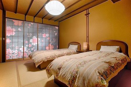 写真:和風ツインベッドルーム