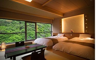 写真:貸切露天温泉専用客室(和洋室)