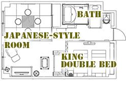 間取り図:バリ風和洋室タイプ