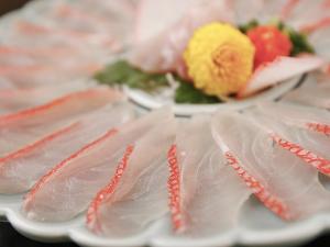 限定先着5室◇金目鯛と地魚の薄造りコース  夕食:ダイニング/朝食:ダイニング