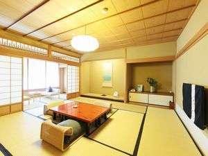 ◆デラックス和室◆【朝・素】高野槇木風呂付