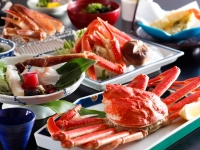 【貸切風呂無料特典付】蟹姿・焼がに・かに刺などの7種の蟹料理フルコースを会場食でお得に♪期間限定