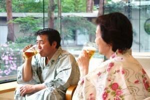 新館【おふたりプラン】~湯上りビール&色浴衣&お部屋食の特典付き~