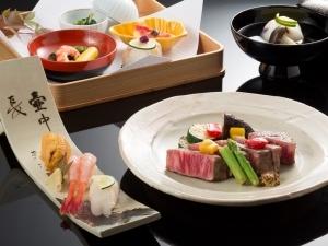 新館【お食事グレードアップ】~寿司と和牛ヒレステーキ付贅沢懐石プラン~