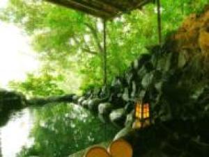 【1日1室限定!】茄子のはな一番人気の専用岩風呂露天風呂つき客室『まめの間』に泊まる
