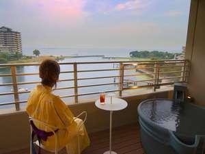 《ベッド付和室》琵琶湖眺望露天風呂付【びわの風】(禁煙)