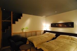 ■和モダン×メゾネット【天然温泉付+ベッド】お部屋に階段あり