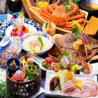 【氷室会席】蟹1杯付+「能登豚鍋or海鮮鍋」お一人様ずつ「お鍋」が選べるチョイス会席