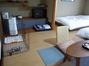 ペットと泊まれる部屋■ゆらら本館2ベットフローリングタイプ