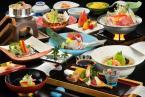 【食事処】【ライト会席コース】トロトロ自家源泉&郷土料理も楽しめる旬の彩り会席で栄楽館を満喫