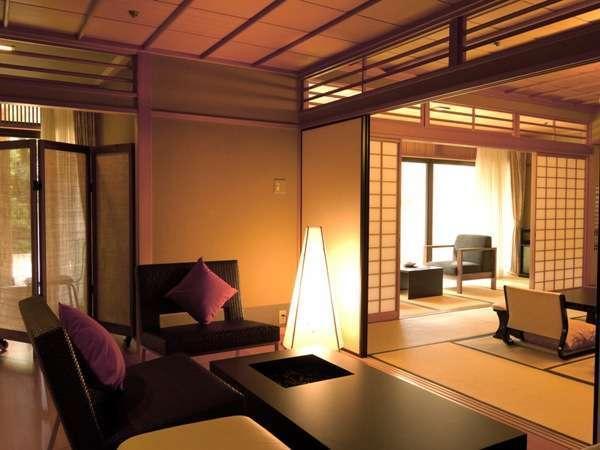 【桃山第/DXスイート】露天風呂付和洋室(本間15+BED・130㎡)