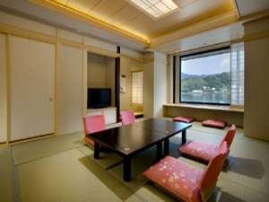【たまゆら】河口湖を望む展望風呂付客室12畳+6畳次の間付