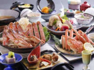 タグ付松葉蟹使用冬の特選蟹会席○平日限定『松の膳』