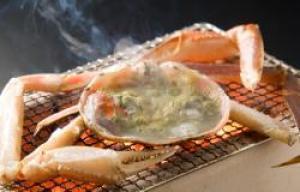 ◆特選蟹懐石◆加賀橋立港タグ付き最上級ブランド活かにをゆで・刺身・炭火焼で食す(1杯)