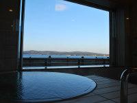 海が見える半露天風呂(温泉)付和洋室☆個室食事処専用【禁煙】