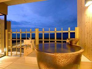 海の見える露天風呂(温泉)付客室☆お部屋で豊富な源泉を満喫♪