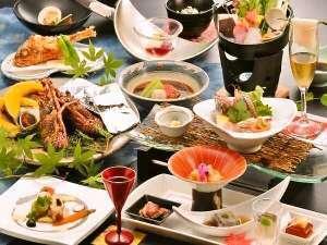 【基本プラン】新鮮な魚介類を味わえる!石花海名物「漁師焼き」&絶景温泉を堪能♪