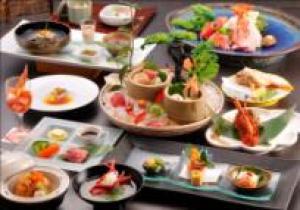 【お料理グレードUPプラン】金目鯛の姿煮&アワビの踊り焼き&伊勢海老&国産牛ステーキ付の最上級コース