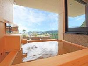 客室露天風呂で星空を楽しむプラン「銀河」