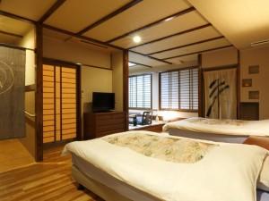 ◆石造り内湯付◆ダイニングルーム付和洋室【禁煙】