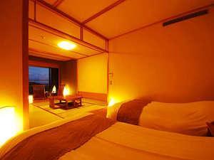 お部屋広々☆海が見える檜の露天風呂付和洋室(49㎡)【暁の抄】 (禁煙)