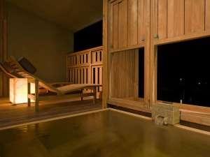 【禁煙室】 最上階温泉露天風呂付き和洋室「典雅・洒落」