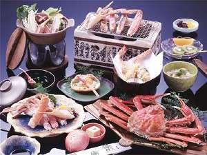 一番人気☆☆カニのフルコース(3つの貸切風呂無料&外湯めぐりチケット付き)☆食事は夕・朝お部屋で♪