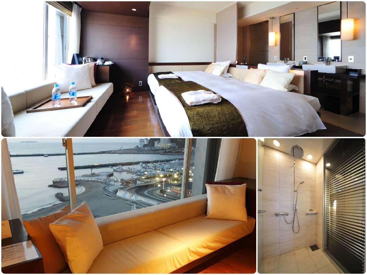 海の見える客室/スーペリアツイン・トリプル/喫煙室/34平米