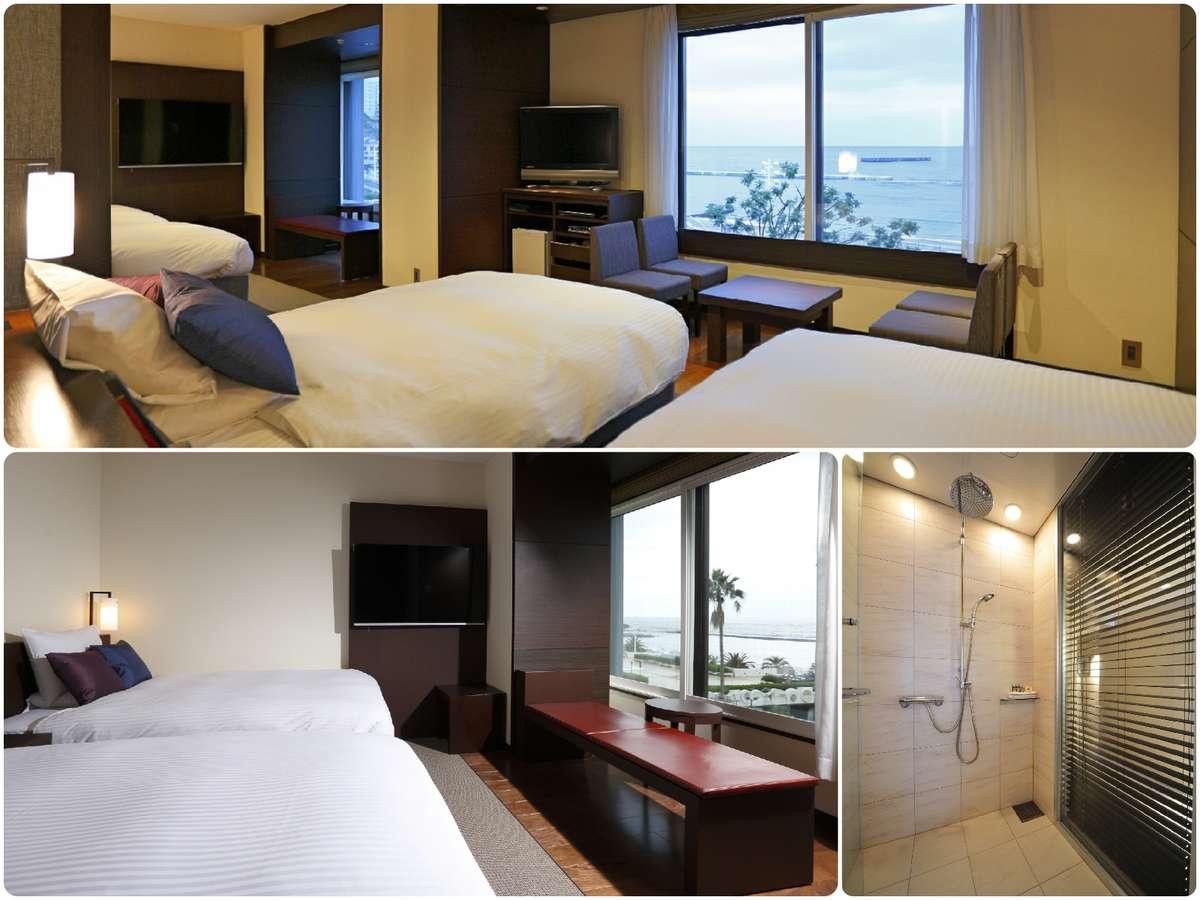 海の見える角部屋/コーナーフォース/禁煙室♪/4ベッド/49平米