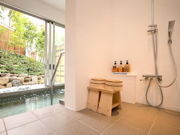 【和室14.5畳】貸切風呂利用付/湯郷温泉を一望できる眺め