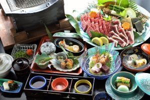 ■【しまね和牛3種食べ比べ120g】「炭火焼」で味わい尽くす贅沢食べ比べ会席♪