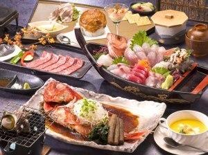 【特選!金目鯛煮付】伊豆の海の幸満載♪まるごと金目鯛煮付けと豪華舟盛り付き♪