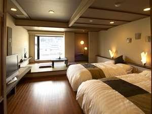 コンフォート客室「燈AKARI」ツイン+和リビング