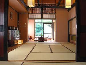 特別室永井宿 踏込+10畳+6畳+囲炉裏+露天風呂+広縁