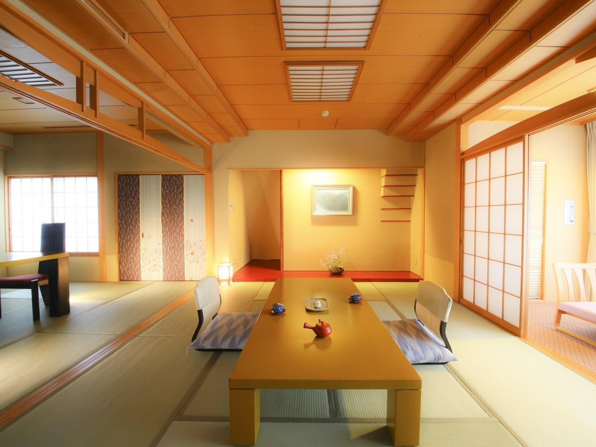 【特別室確約】広さにこだわる方向け/二間以上の特別室で寛ぎの温泉旅★和食会席(食事処)