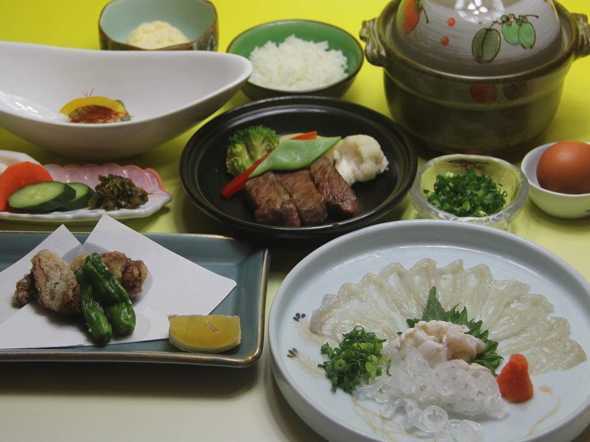 【ふぐ・黒毛和牛・ホロホロ鳥】シニア限定!厳選食材コースプラン/食事処